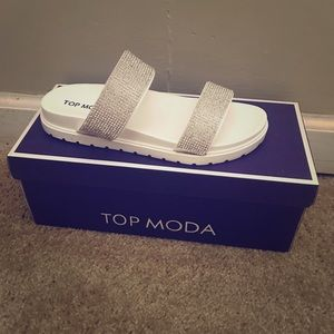 Top Moda Glitter Glam Slides
